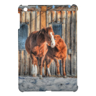 Two Cheeky Horses and a Barn Equine Photo iPad Mini Cases