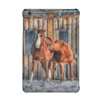 Two Cheeky Horses and a Barn Equine Photo iPad Mini Cover