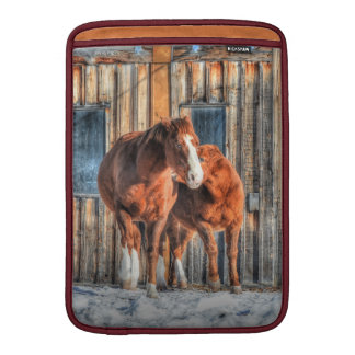 Two Cheeky Horses and a Barn Equine Photo Sleeve For MacBook Air