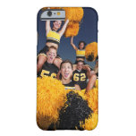Two cheerleaders riding on shoulders of football barely there iPhone 6 case