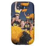 Two cheerleaders riding on shoulders of football galaxy s3 case