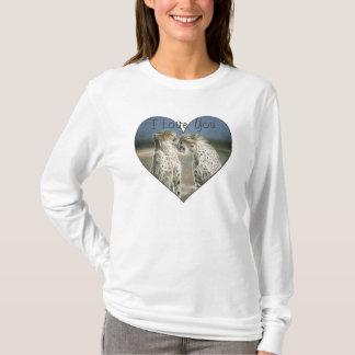 Two Cheetahs Kissing I Love You T-Shirt