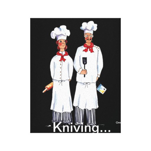 Two Chefs canvas print