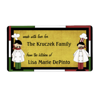 Two Chefs Food Preparation Labels