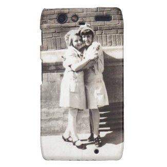 Two Chefs Hug c 1930s Vintage Photograph Motorola Droid RAZR Cover