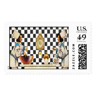 Two Chefs, Maxfield Parrish Postage Stamp