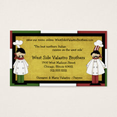 Two Chefs Restaurant Business Card at Zazzle