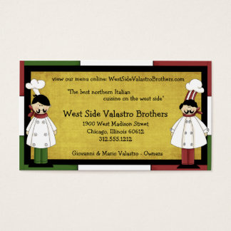 Two Chefs Restaurant Business Card