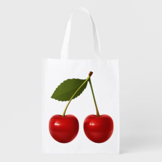 Two Cherries  Grocery bag
