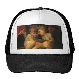 Two Cherubs Reading by Rosso Fiorentino Trucker Hat