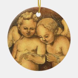 """Two Cherubs Singing"" Christmas Ornament-Angels"