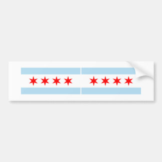 TWO Chicago Flags Car Bumper Sticker