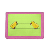 Two Chicks and a Worm Trifold Wallet