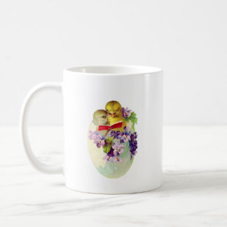 Two Chicks in Egg Shell Sing From Songbook Coffee Mug