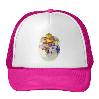 Two Chicks in Egg Shell Sing From Songbook Trucker Hats
