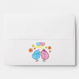 Two Chicks Kissing Envelope