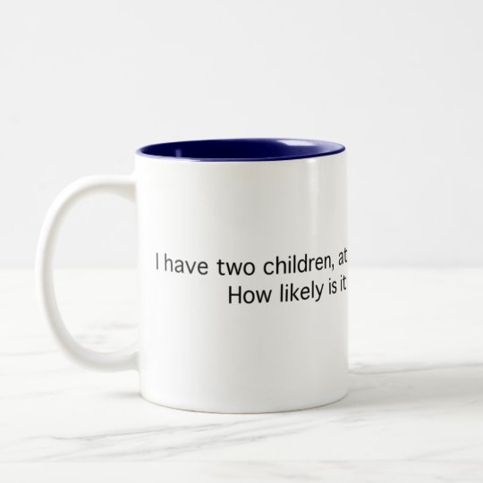 Two Children, One a Boy Two-Tone Coffee Mug