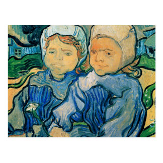 Two Children Van Gogh Fine Art Postcard