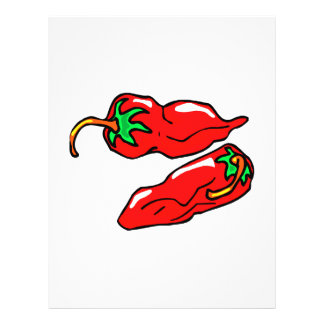 two chili peppers graphic loose personalized flyer