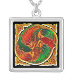 Two Chinese Dragons - Pendant