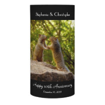 Two Chipmunks Holding Hands Anniversary LED Candle