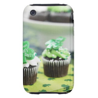 Two chocolate cupcake for St. Patrick's Day Tough iPhone 3 Case