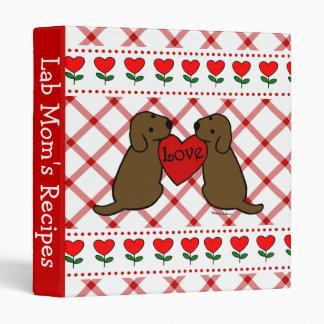 Two Chocolate Labradors Cartoon Recipes Binder