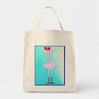 Two Christmas Flamingos Bags