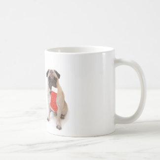Two christmas pugs classic white coffee mug
