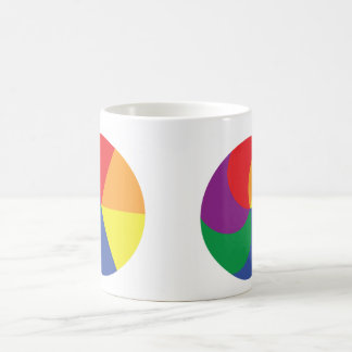 Two circle rainbow colors, mug