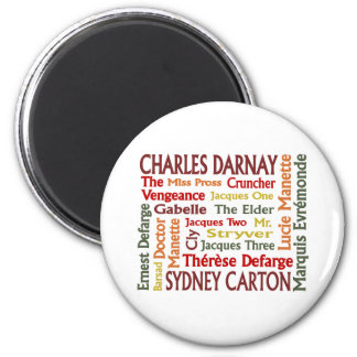Two Cities Characters 2 Inch Round Magnet