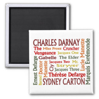Two Cities Characters 2 Inch Square Magnet