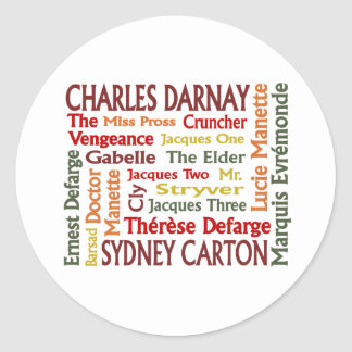 Two Cities Characters Classic Round Sticker