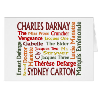 Two Cities Characters Greeting Card