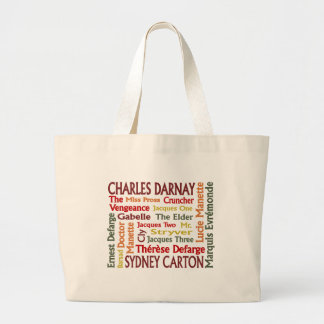 Two Cities Characters Large Tote Bag