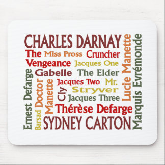 Two Cities Characters Mouse Pad