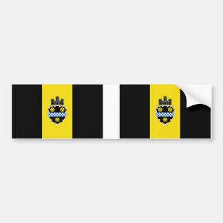 TWO City of Pittsburgh Flag Bumper Sticker