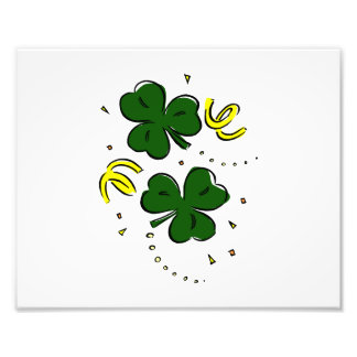 two clovers with streamers st paddys.png photo print