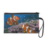 Two Clownfish Wristlet Purse