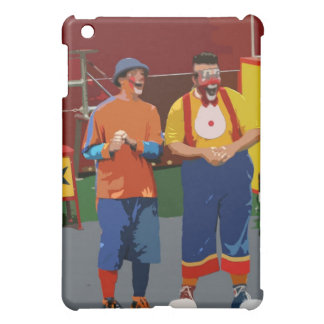 Two clowns cartooned bright colors iPad mini case