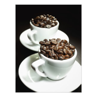Two coffee cups photo print