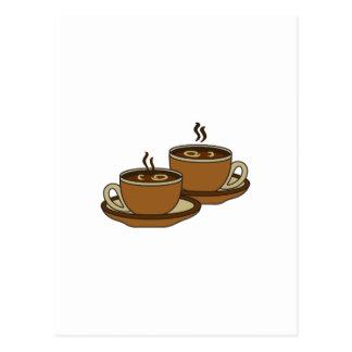 TWO COFFEE CUPS POSTCARD