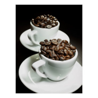Two coffee cups poster