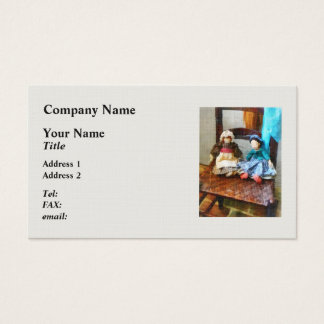 Two Colonial Rag Dolls Business Card