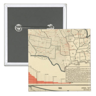 Two color lithographed maps of United States Button