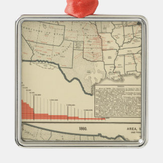 Two color lithographed maps of United States Ornaments