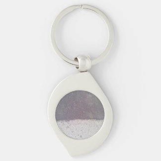 Two colored asphalt Silver-Colored swirl metal keychain