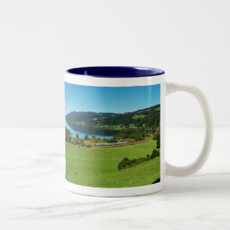 Two-colored cup blue large Alpsee