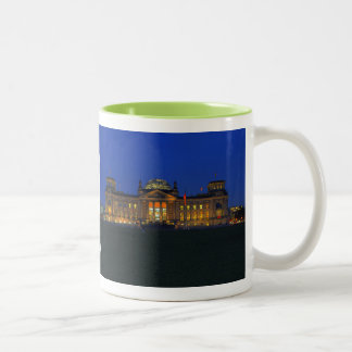 Two-colored cup green Berlin Reichstag in the