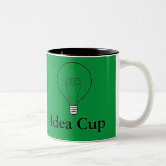 Two-colored cup green Idea Cup bulb